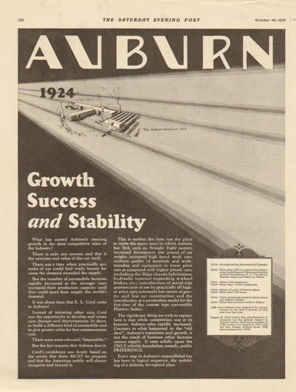 1928 Auburn Advertisement #8