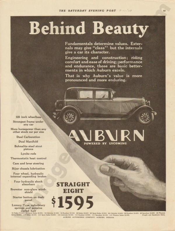 1928 Auburn Advertisement #9