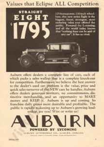 1929 Auburn Advertisement #2