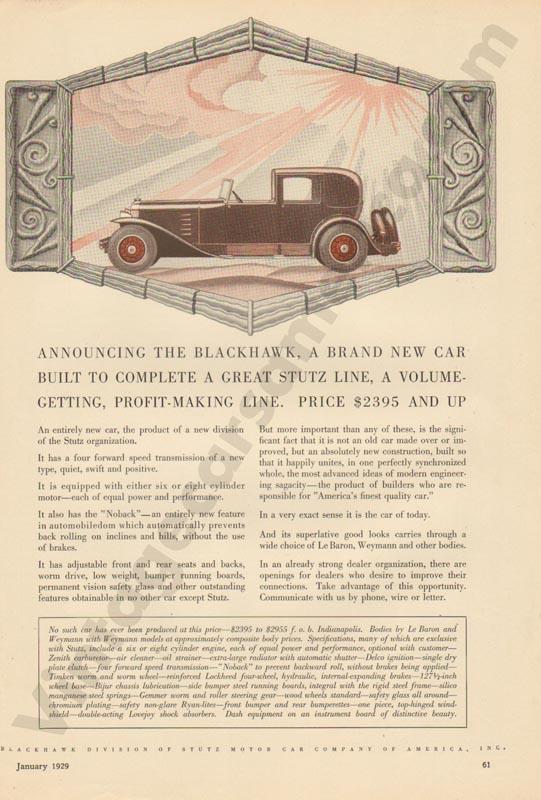 1929 Stutz Advertisement #2