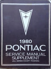 1980 Pontiac Shop Manual Supplement