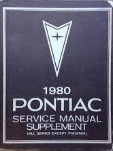 1980 Pontiac Shop Manual Supplement