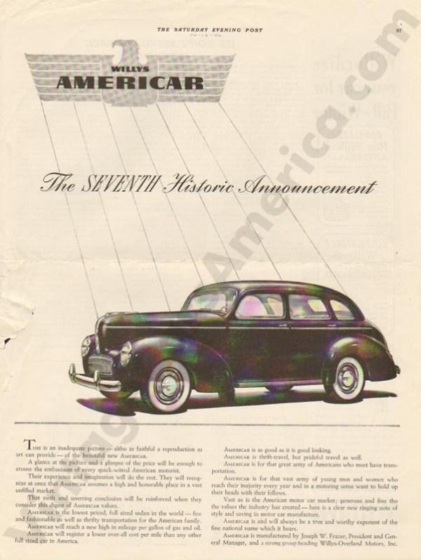 1940 Overland Advertisement