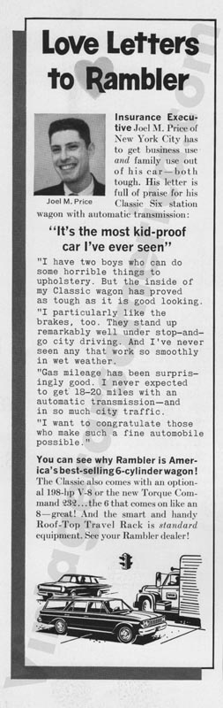 1964 Rambler Advertisement #2