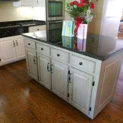 Painted Kitchen Islands Ikea Step Stool Cabinets With Contrasting Island After 06