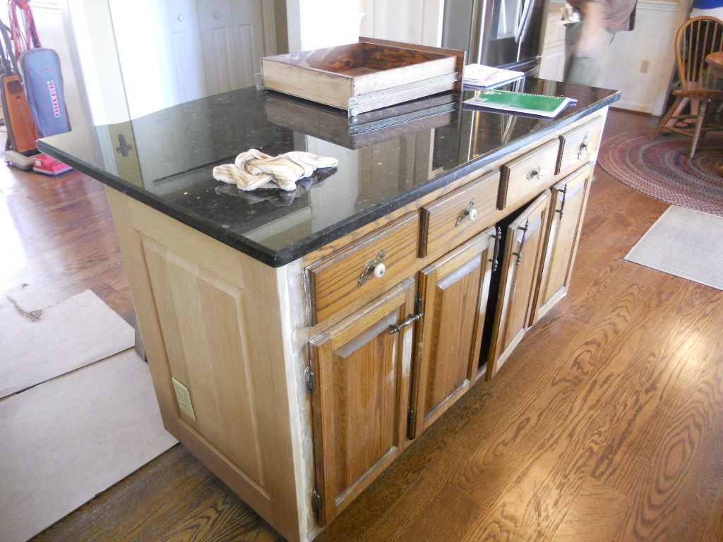 painted kitchen islands undermount sinks lowes cabinets with contrasting island before 02