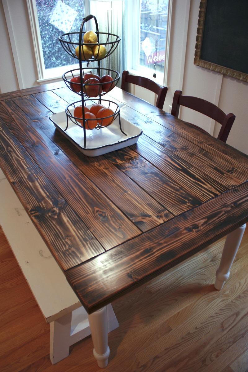 New Project DIY Farmhouse Table  Vintage Chic Redux