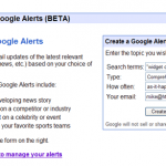 2google alerts