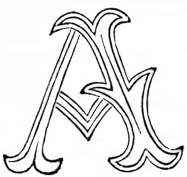 Fancy Antique Alphabet Patterns for Embroidery Monograms