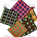 Crochet Patterns Tartan Plaid Placemats And Potholders Vintage Crafts And More