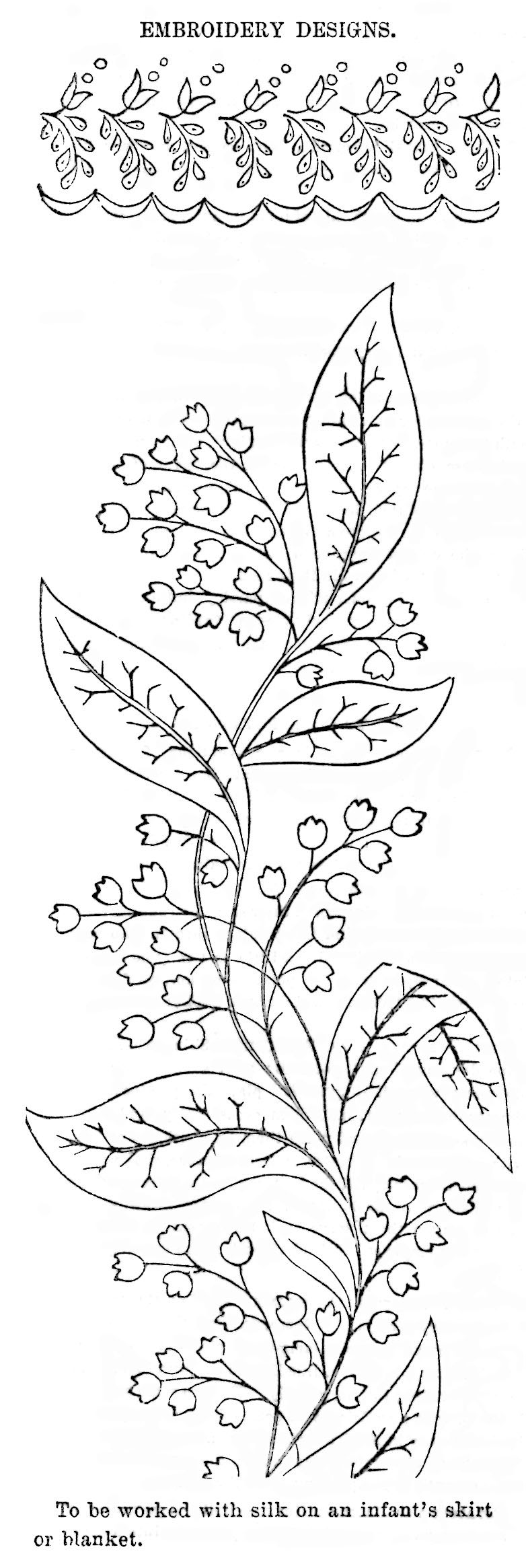 Lily Of The Valley Embroidery : valley, embroidery, Valley, Pattern, Embroidery, Vintage, Crafts