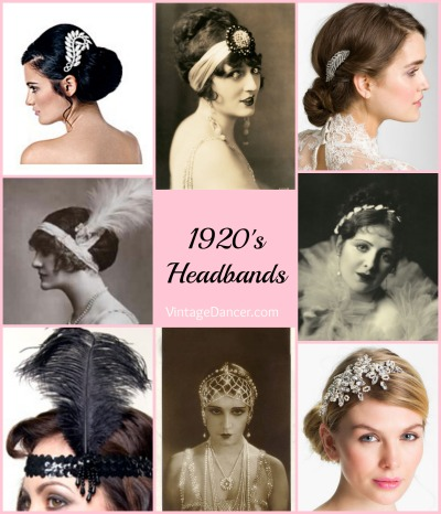 1920s accessories stockings hats headbands jewelry
