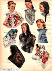 vintage scarves- in 1920s