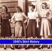 1940s skirt history -line classics