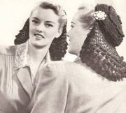 1940's hair snoods- knit