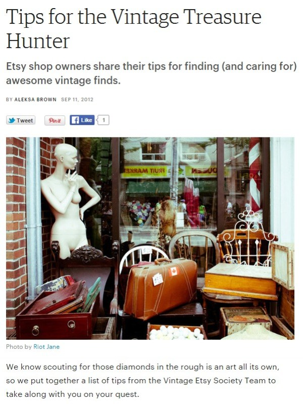 Tips for the Vintage Treasure Hunter