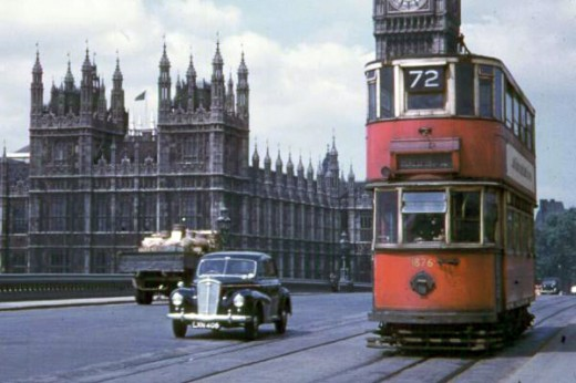 London Trams C1950s Vintage Everyday