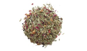 raspberry lemon tea displayed in a circle