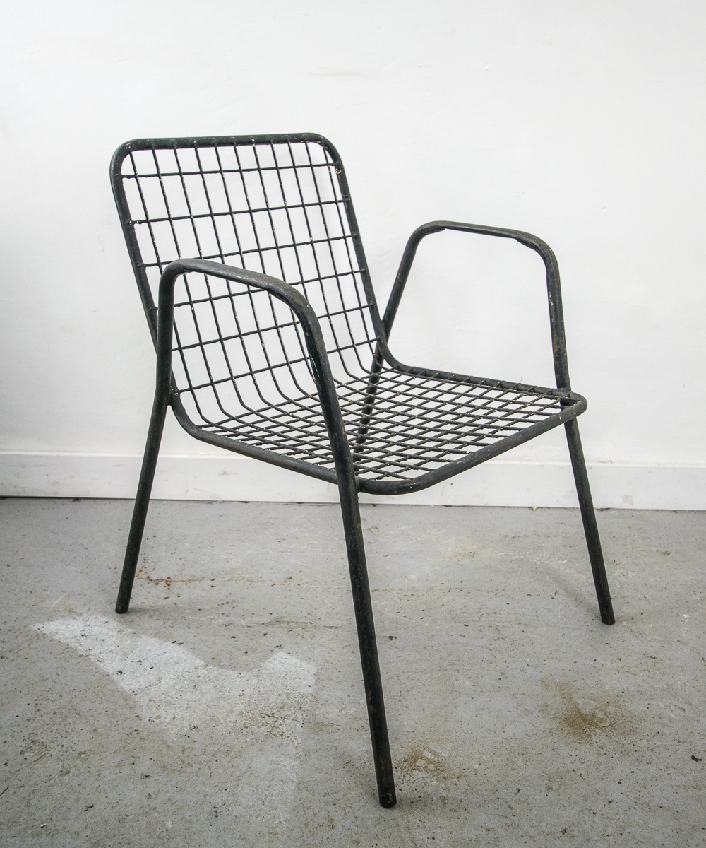 Metal Chairs Stackable Metal Terrace Chairs