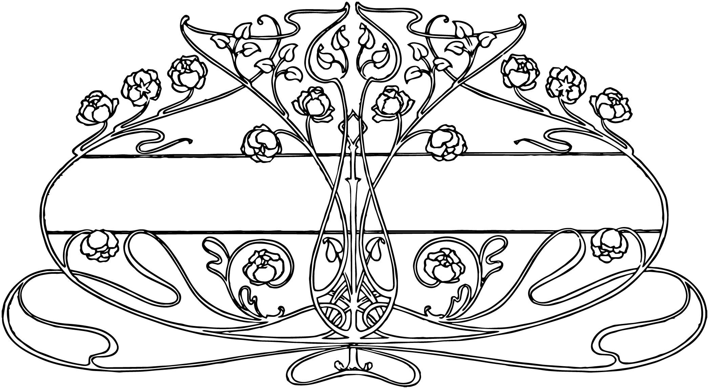 free vintage image art nouveau floral design oh so. Black Bedroom Furniture Sets. Home Design Ideas