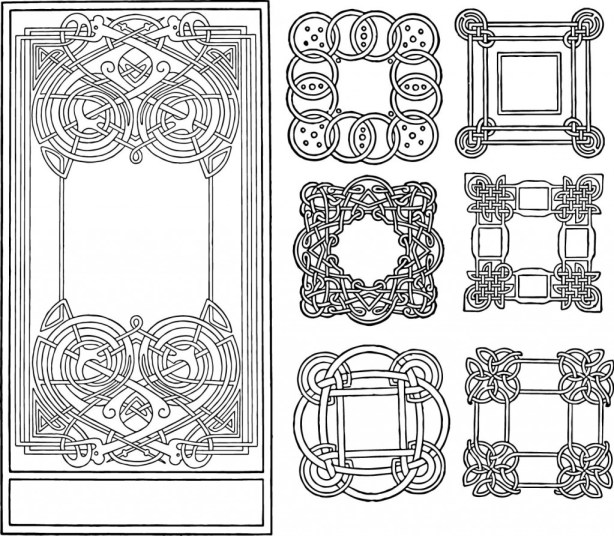 vgosn_vintage_celtic_knotwork_clipart_images_bw