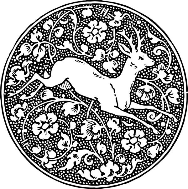 vintage deer emblem free clipart