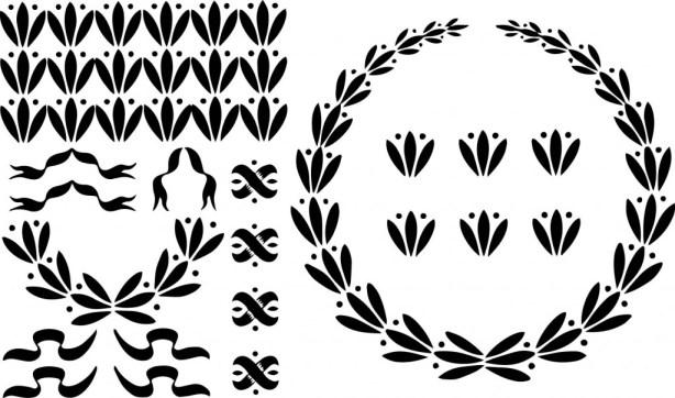 vgosn_vintage_laurel_wreaths_ribbons_clipart_images_free