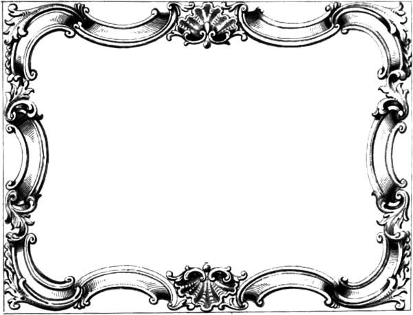 vintage ornate border frame free