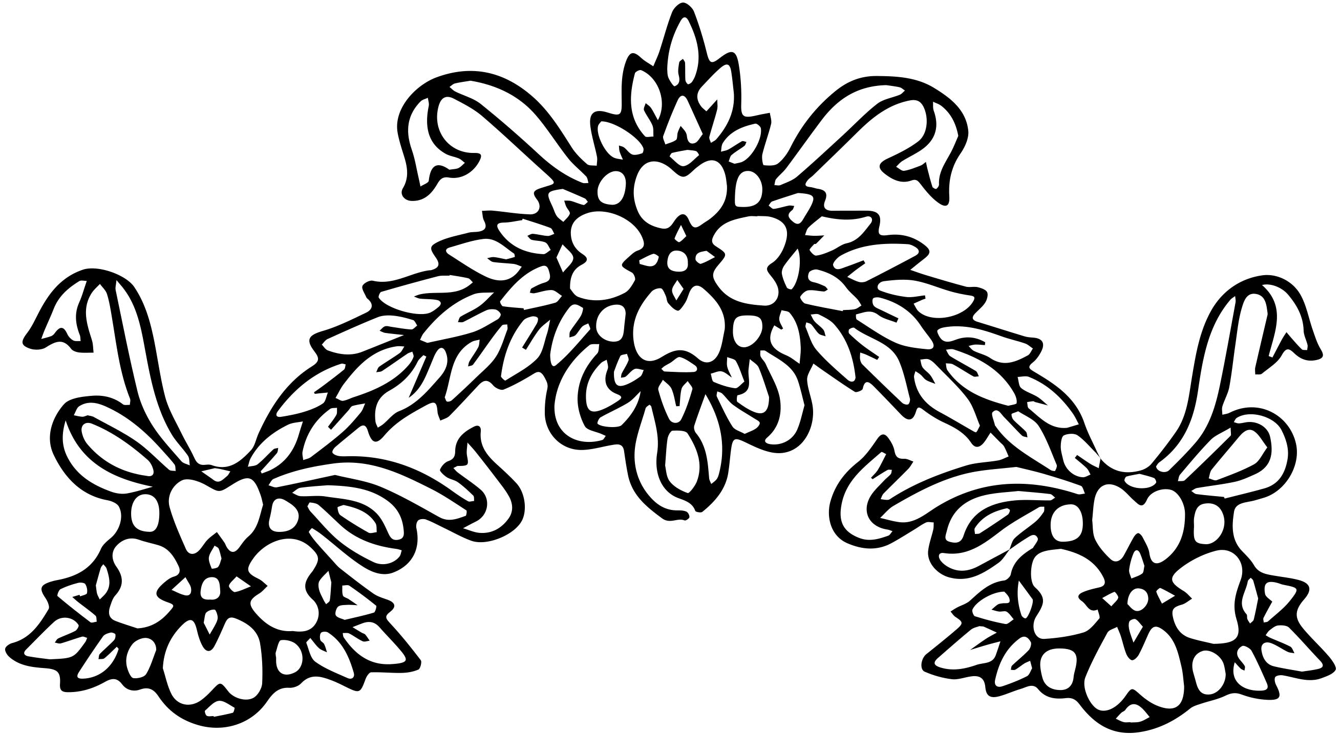 Vintage Floral Wreath Borders Clip Art Image Collection