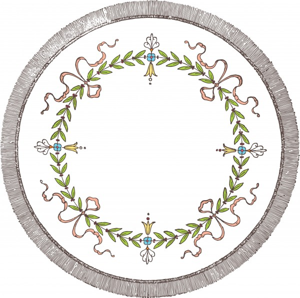 vgosn_vintage_stock_vector_clip_art_circle_wreath_colored