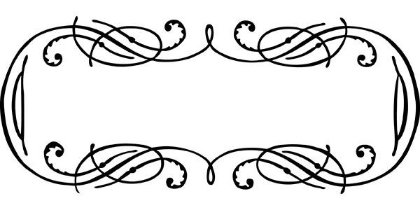 Vintage Calligraphy Border Frame Clip Art Vector Image