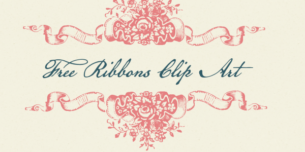 Free Clip Art Floral Ribbon Dividers