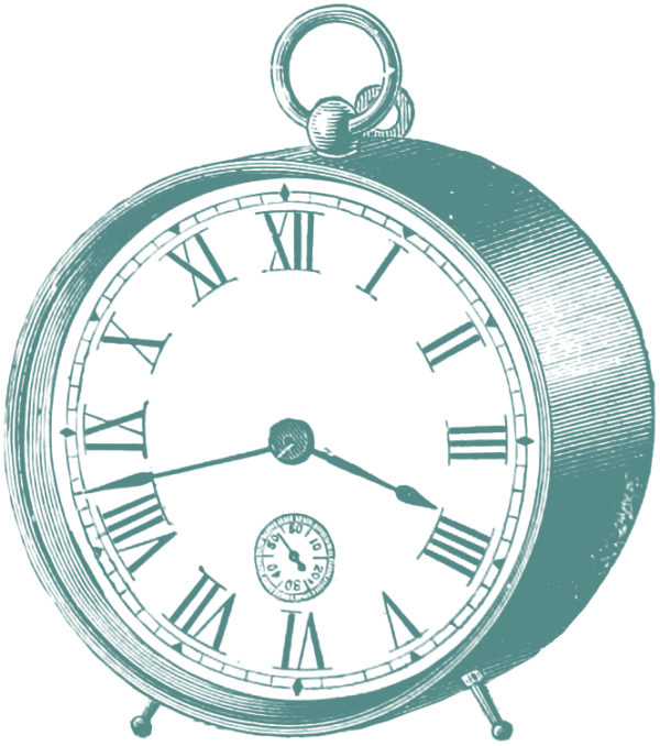 Free Clip Art Images - Vintage Clocks :: Oh So Nifty Vintage Graphics ::