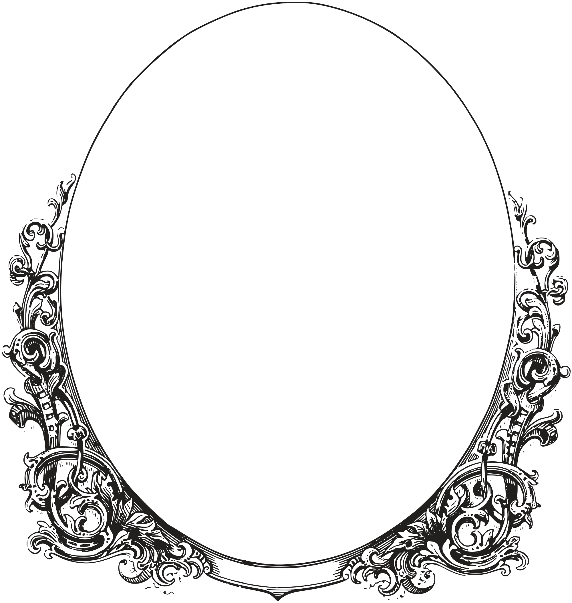 Royalty Free Images - Ornate Oval Frame Border | Oh So ...