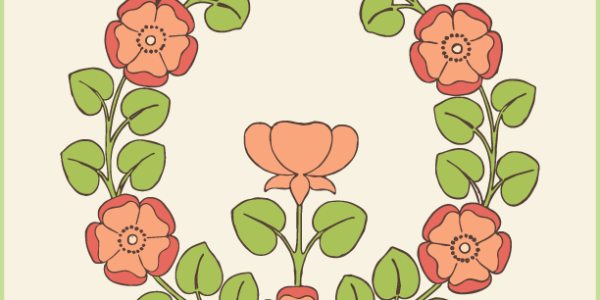 Free Stock Images - Floral Rose Emblem