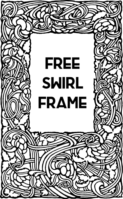 Stock Images - Lovely Swirly Frame