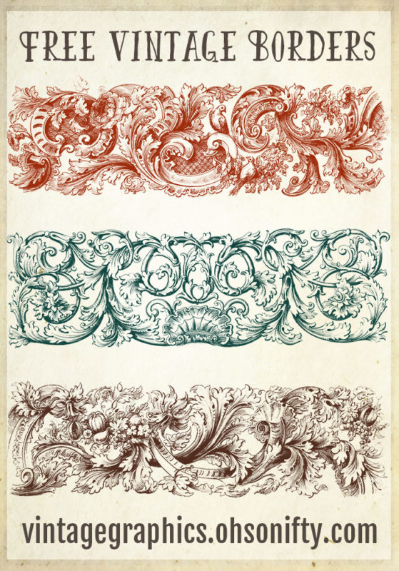 Royalty Free Clipart Images - Ornate Vintage Borders