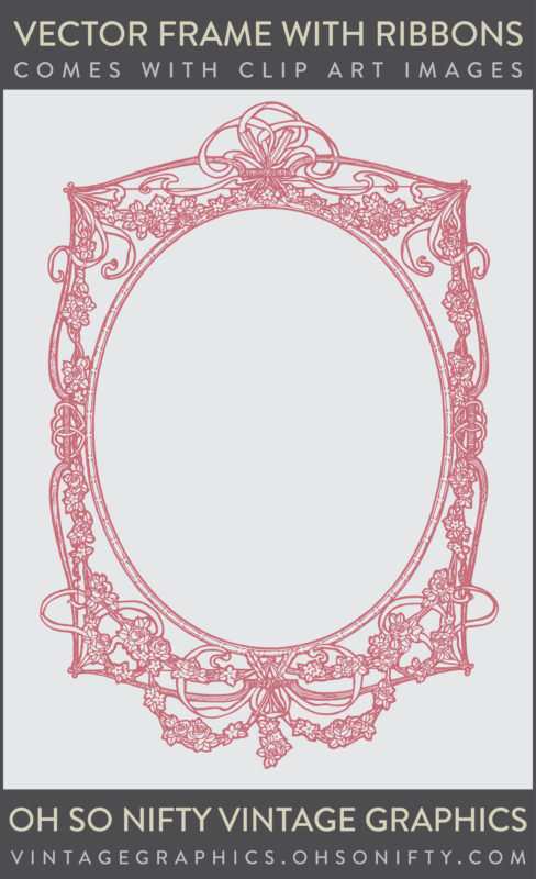 Stock Graphics - Vector Clip Art Frame with Ribbons