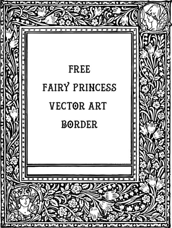 Beautiful Vector Art - Fairy Princess Border