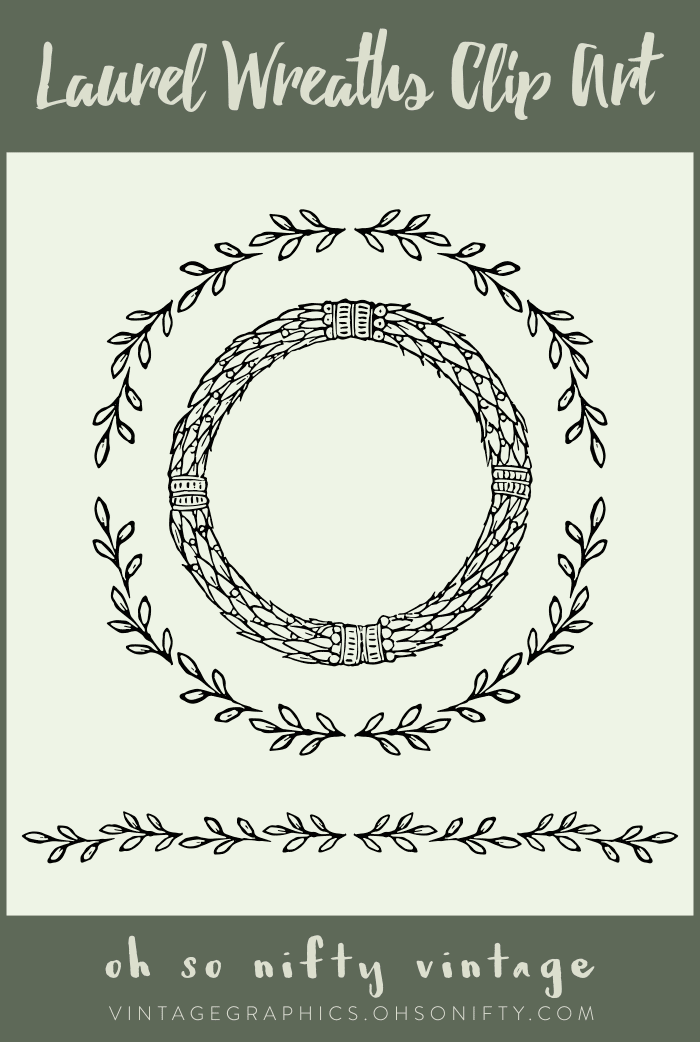 Lovely Stock Images - Laurel Wreaths Clip Art Vectors
