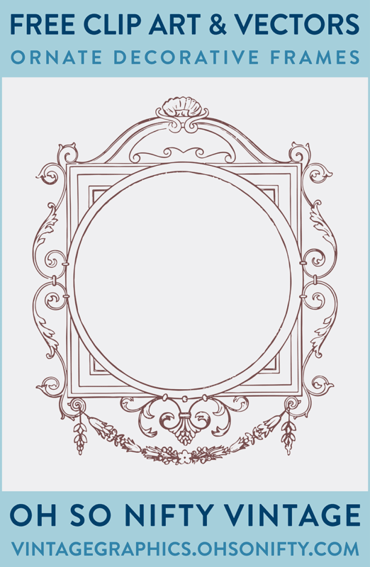 Vintage Vector Art - Ornate Frame Clip Art