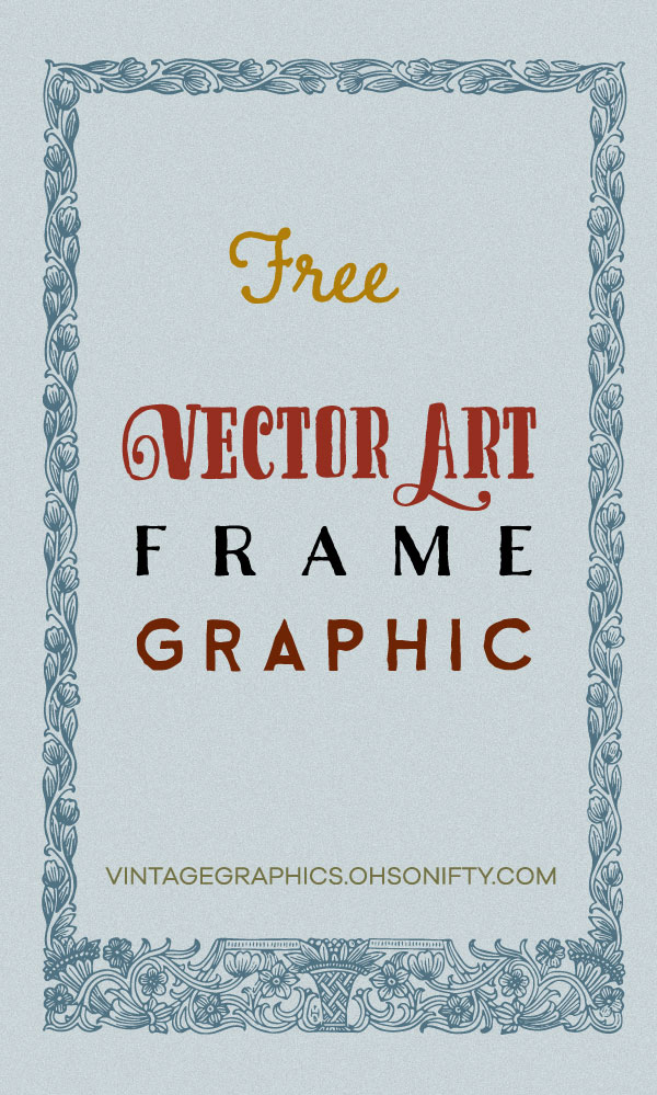 Free Vector Art - Antique Floral Frame Graphic