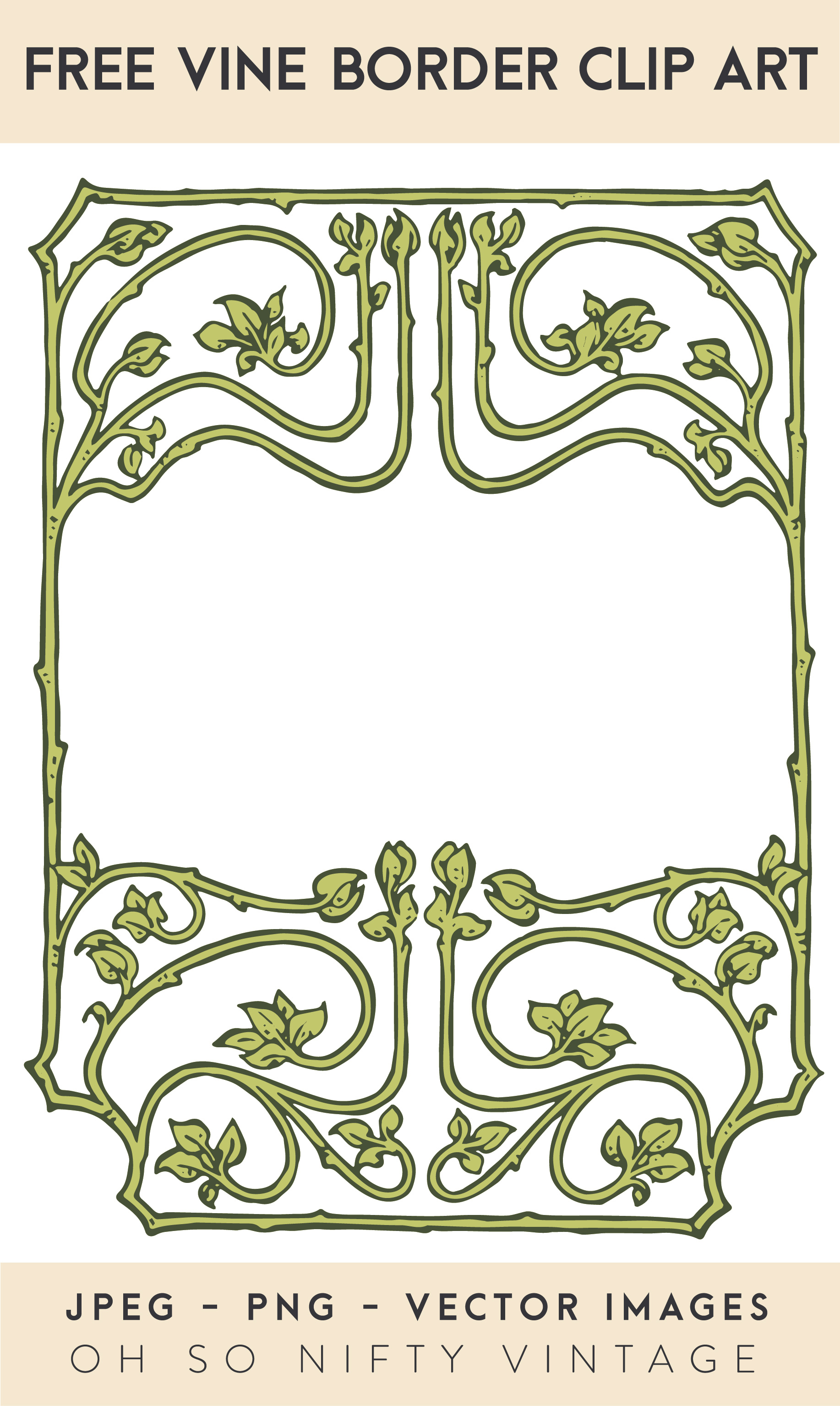 Free Vector Art | Vine Border