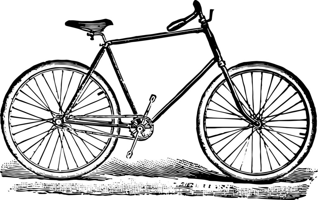 Stock Illustrations - Vintage Bicycle