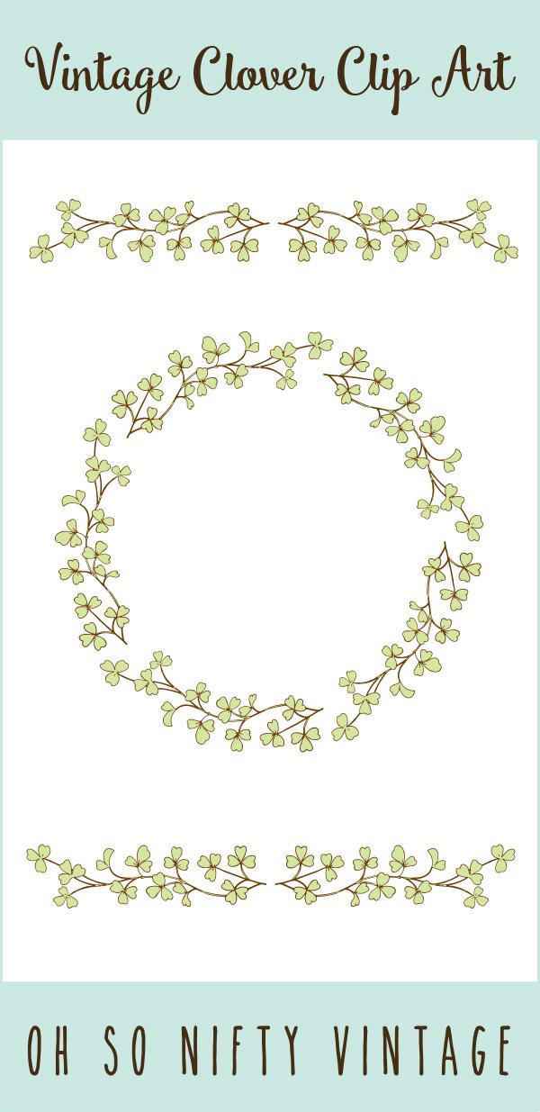 Decorative Stock Images | Vintage Floral Wreath & Divider