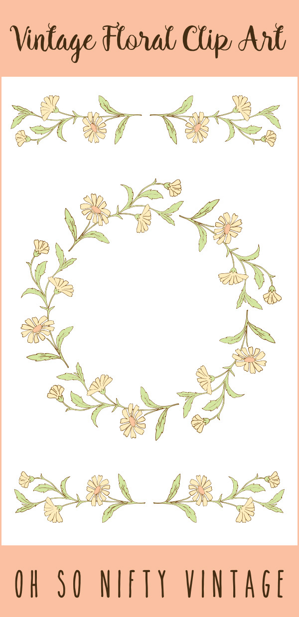 Lovely Stock Images | Vintage Floral Wreath & Divider