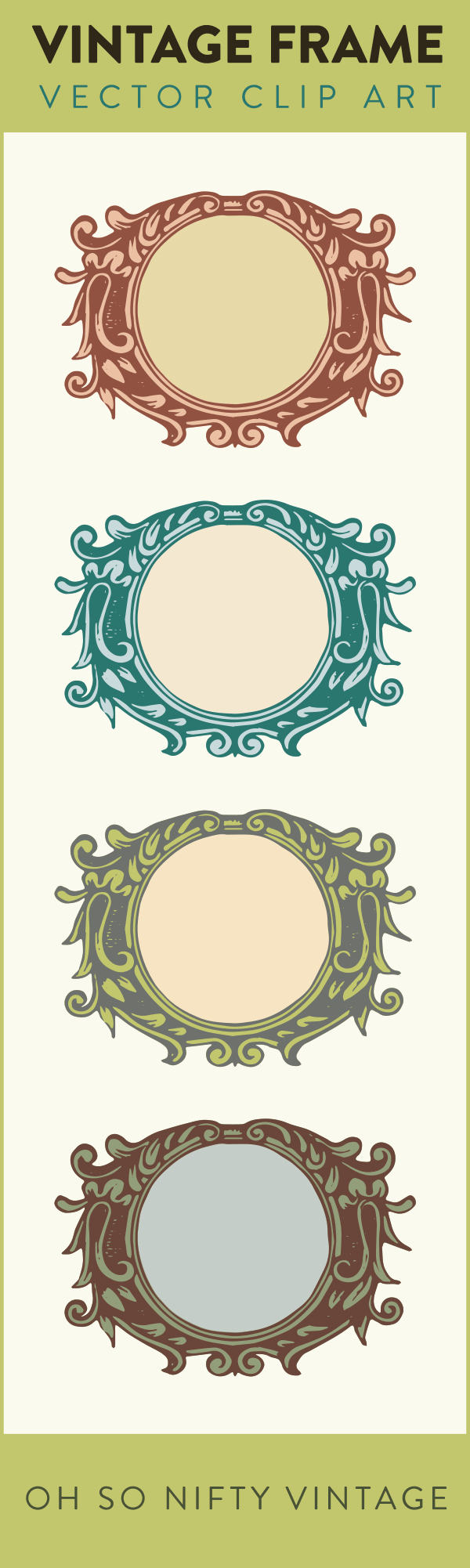 Stock Images | Vintage Flourish Frames