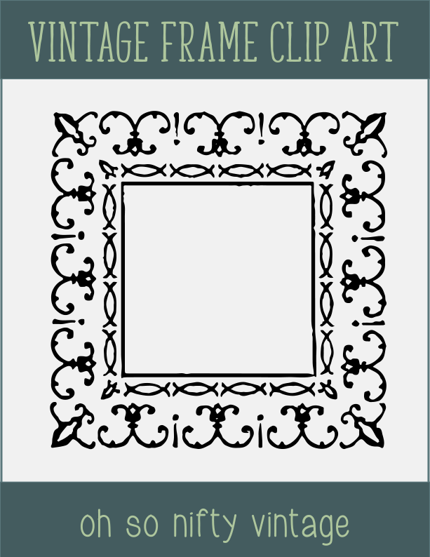 Ornate Grunge Frame Clip Art