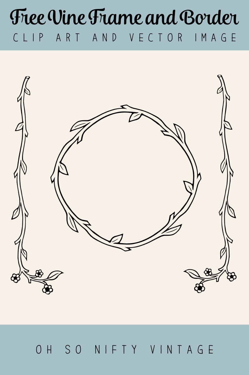Royalty Free Images - Vine Frame and Floral Border