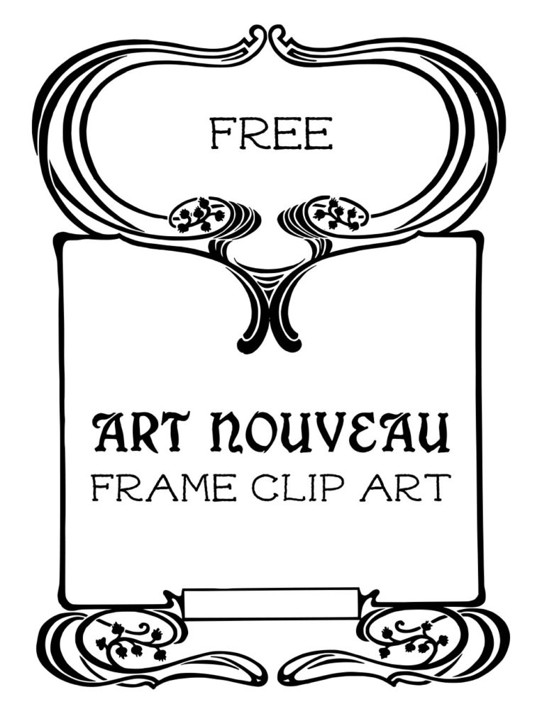 Royalty Free Stock Vector | Art Nouveau Frame